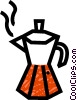 Vector Clipart graphic  of a coffee pot/maker