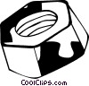 Vector Clipart graphic  of a nut