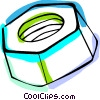 Vector Clipart image  of a nut