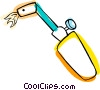 acetylene torch Vector Clipart illustration