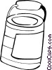 Vector Clip Art graphic  of a paint can