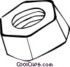 Vector Clip Art image  of a nut
