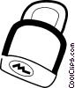 Vector Clip Art graphic  of a lock