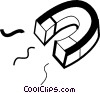 Vector Clip Art graphic  of a magnet