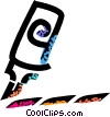 Vector Clip Art image  of a marker