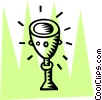 Vector Clip Art graphic  of a Chalices