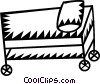 Vector Clipart image  of a hospital bed/stretcher
