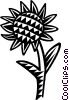 Vector Clipart picture  of a sunflowers