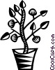 Vector Clipart image  of a house plants