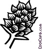 Vector Clipart image  of a exotic plants