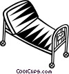 Vector Clip Art graphic  of a hospital bed/stretcher