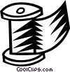Vector Clip Art image  of a material on a spool