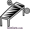 Vector Clip Art graphic  of a bench press