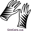 Vector Clipart graphic  of a rubber surgical gloves