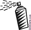 Vector Clipart illustration  of a bottle of hair spray