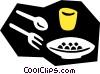 Vector Clipart illustration  of a place settings