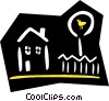 Vector Clipart illustration  of a house/home