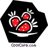 Vector Clip Art graphic  of a strawberries