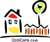 Vector Clip Art picture  of a house/home