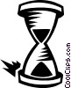 Vector Clipart image  of a hourglass