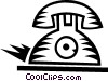 Vector Clipart graphic  of an antique telephones