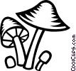 Vector Clipart picture  of a mushroom