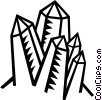 Vector Clip Art image  of a crystal