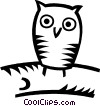 Vector Clip Art image  of a owls