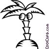 Vector Clipart illustration  of a palm tree