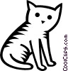 Vector Clipart image  of a house cat