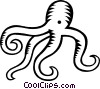 Vector Clip Art image  of a octopus