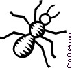 Vector Clip Art image  of an ant