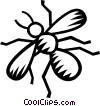 Vector Clipart picture  of a bees