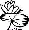 Vector Clipart graphic  of a lily pad