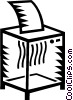 Vector Clip Art graphic  of a Shredder