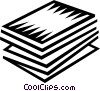 File Folders Vector Clip Art graphic