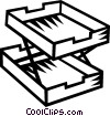 Vector Clipart graphic  of a in-out box