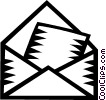 letters/envelopes Vector Clipart illustration