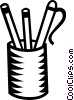 Vector Clipart picture  of a pencils and pens