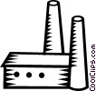 Vector Clip Art image  of a factory