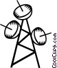 Vector Clip Art graphic  of a communication tower