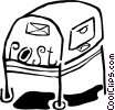 Vector Clip Art graphic  of a mail box