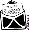 Vector Clipart graphic  of a letters/envelopes