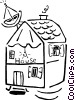 Vector Clipart graphic  of a house/home