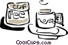 Vector Clipart illustration  of a coffee cups