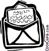 Vector Clipart image  of a letters/envelopes