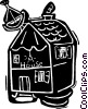 Vector Clip Art image  of a house/home