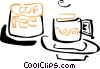 Vector Clip Art picture  of a coffee cups