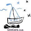 sailboats Vector Clipart picture