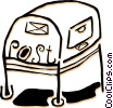 mail box Vector Clipart illustration